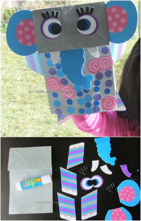 Simple DIY Dumbo Lunch Bag Craft