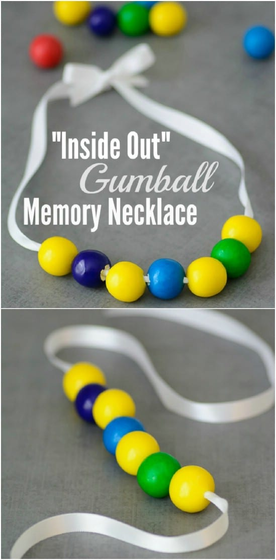 Disney's Inside Out Gumball Necklace