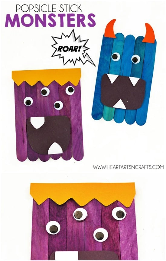 Fun DIY Popsicle Stick Monsters