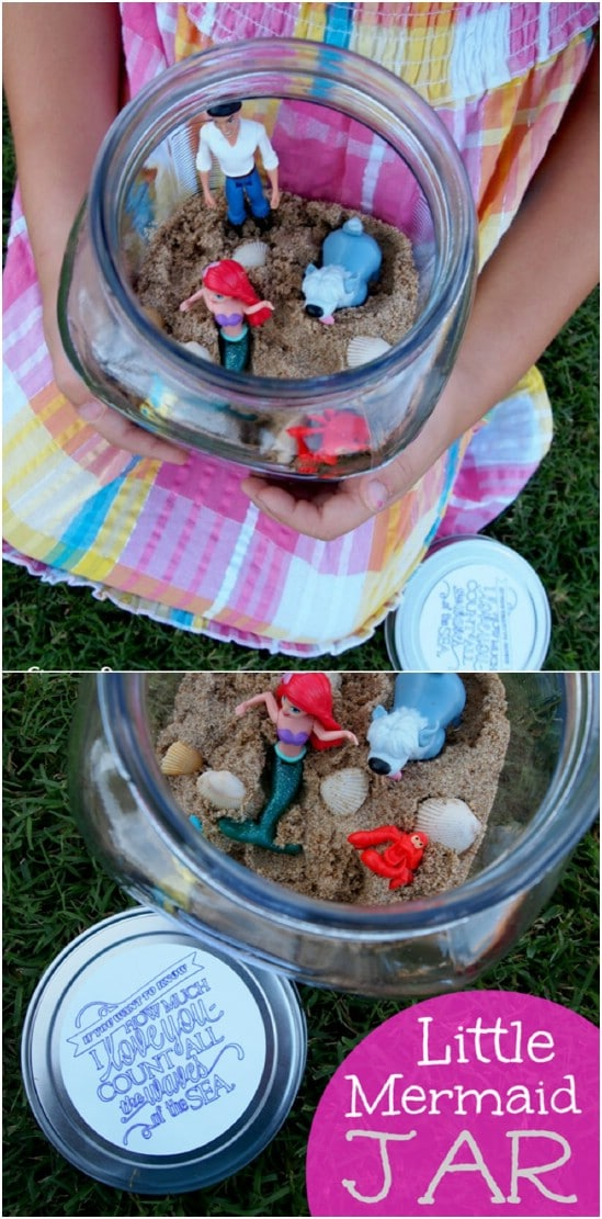 DIY Little Mermaid Jar