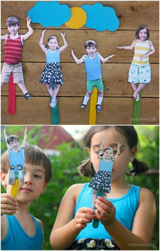 Craft Stick Movable Puppets