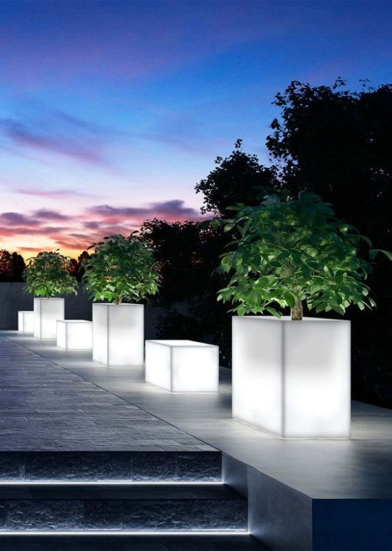 DIY Glow In The Dark Square Planters