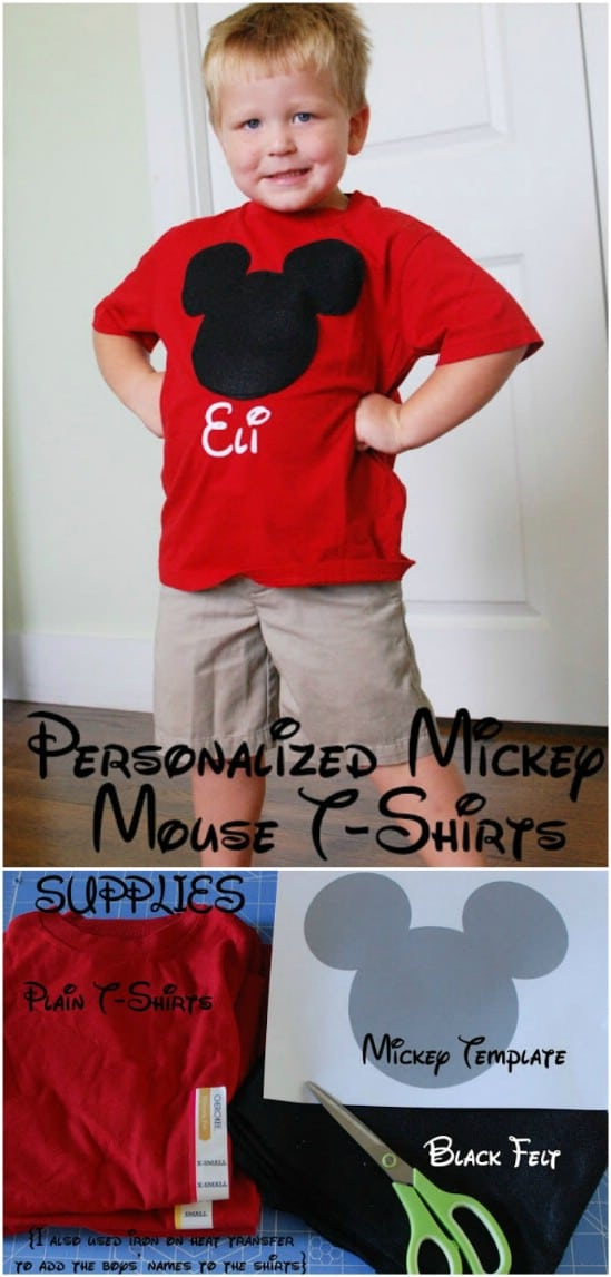 DIY Personalized Mickey Mouse T-Shirts