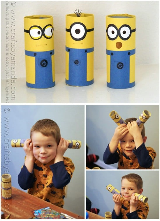 Upcycled Toilet Paper Tube Minions