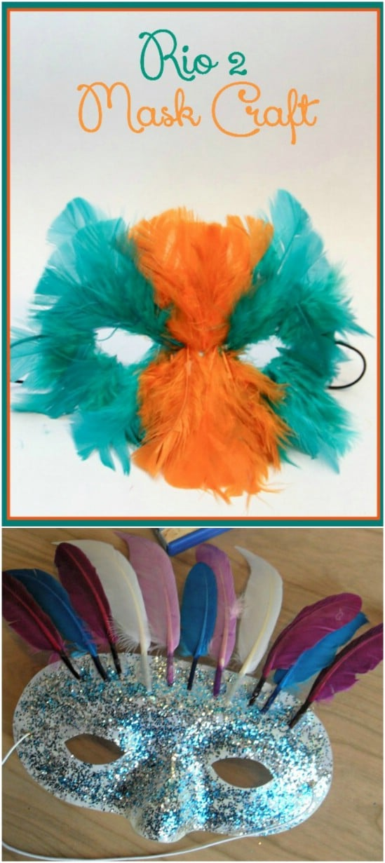 Cute Rio Feathered Mask Craft