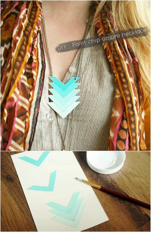 DIY Ombre Chevron Necklace