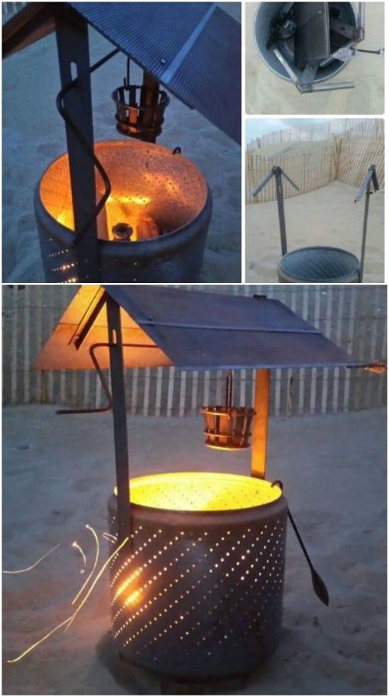DIY Wishing Well Burn Barrel