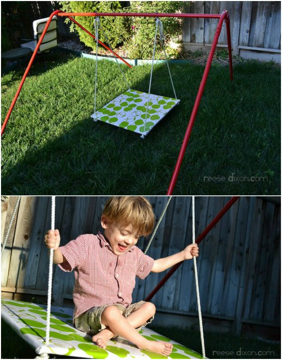 DIY Fabric Covered Platform Swing
