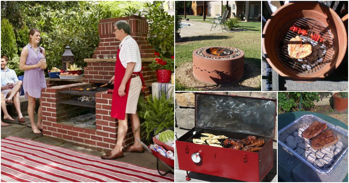 Do It Yourself Outdoor Bar: 10 Awesome DIY Barbecue Grills To Fill Your Backyard With
