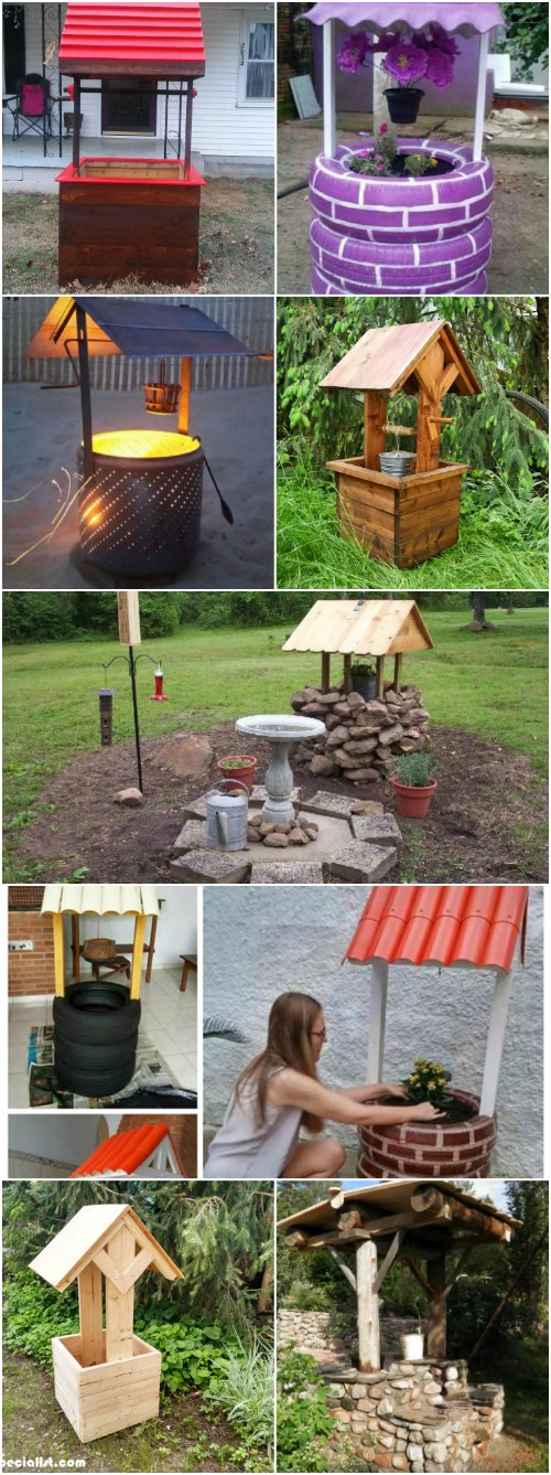 Diy Garden Part - 41: 10 Easy DIY Garden Wishing Wells You Can Make Today U2013 With Free Plans!