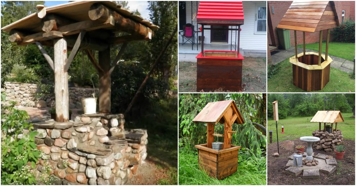 10 Easy Diy Garden Wishing Wells You Can Make Today With