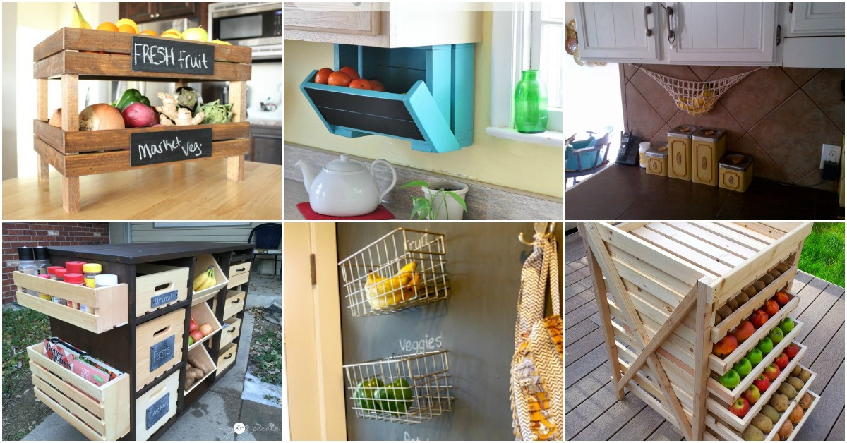 20 Creative Diy Produce Storage Solutions To Keep Fruits And Veggies