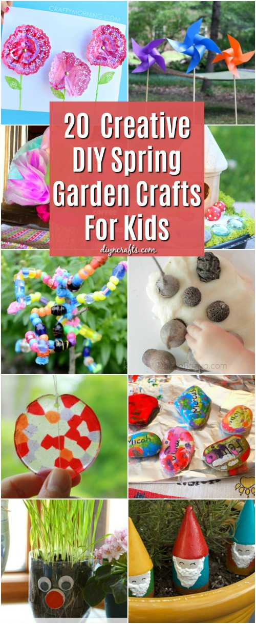 20 Fun And Creative DIY Spring Garden Crafts For Kids