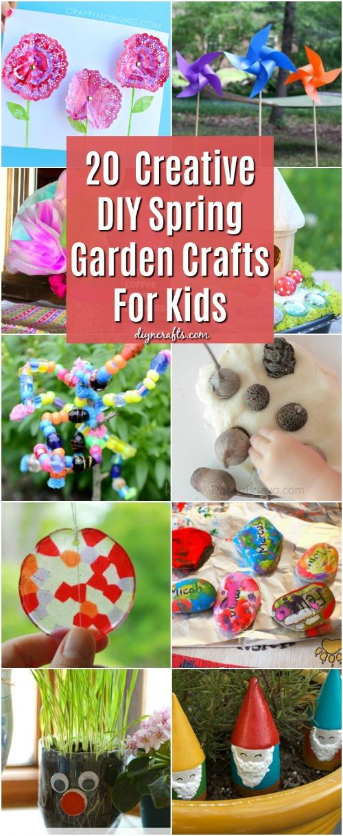 20 Fun And Creative Diy Spring Garden Crafts For Kids Diy Crafts
