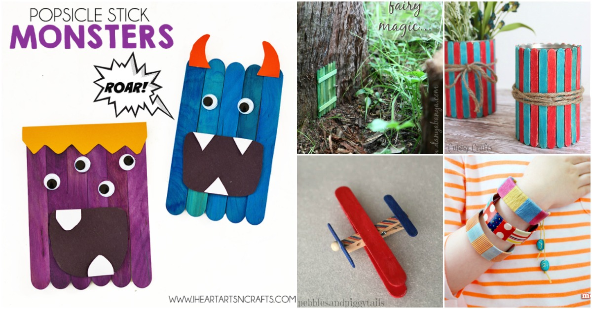50 Fun Popsicle Crafts You Should Make With Your Kids This Summer