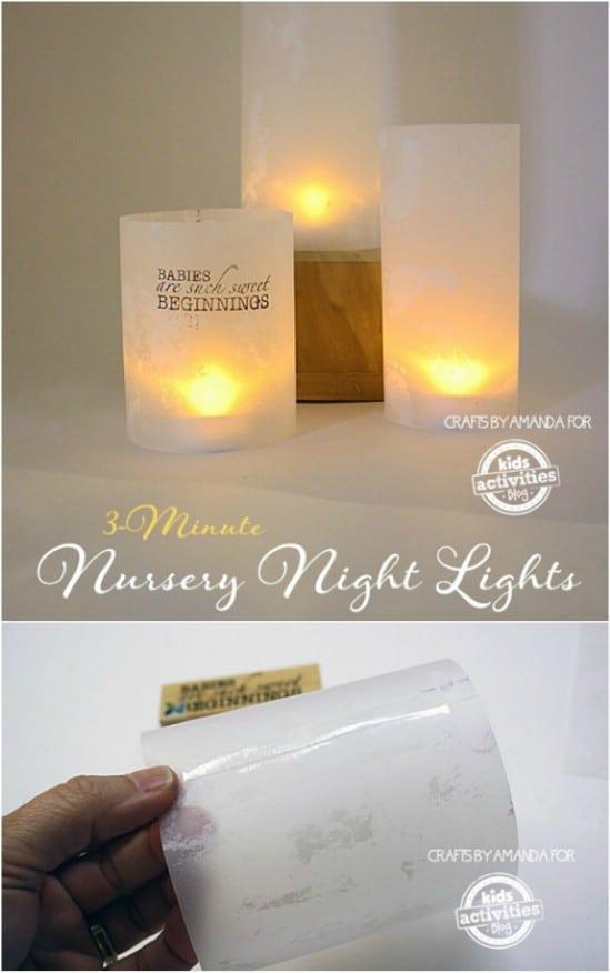 DIY Three Minute Nursery Nightlight