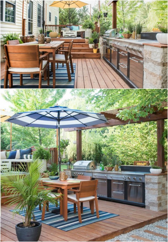 DIY Outdoor Deck Kitchen