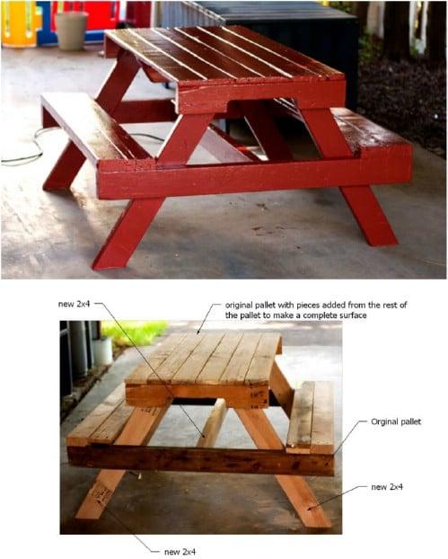 Repurposed Pallet Picnic Table