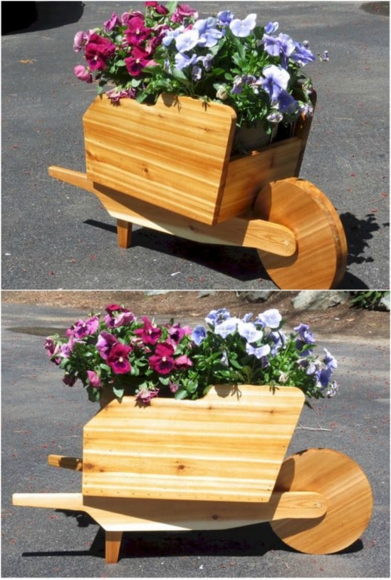 Garden Flower Wheelbarrow
