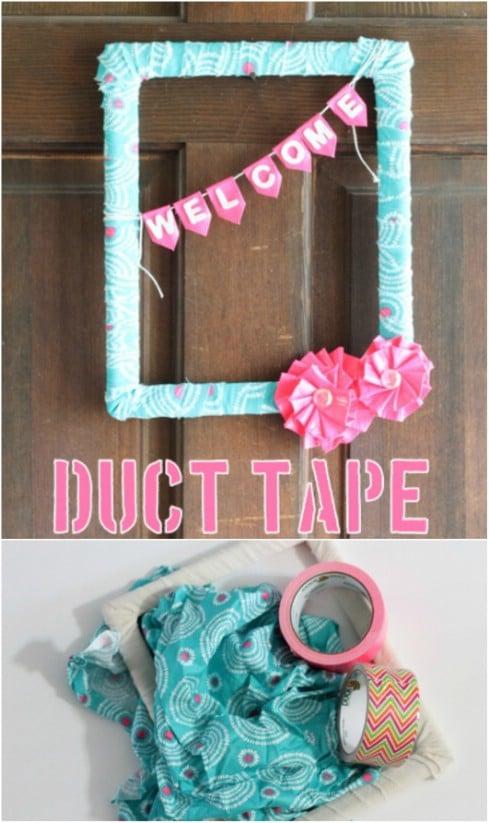 DIY Duct Tape Flower Wreath