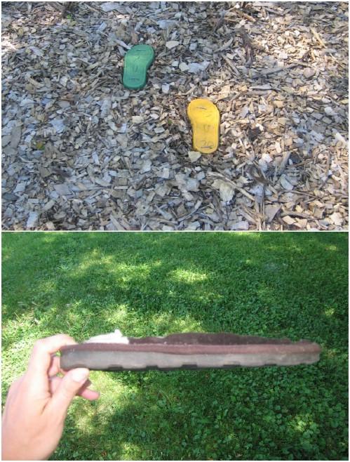 Fun Repurposed Shoe Stepping Stones