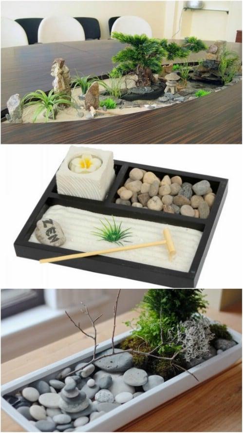 DIY Tabletop Rock Garden