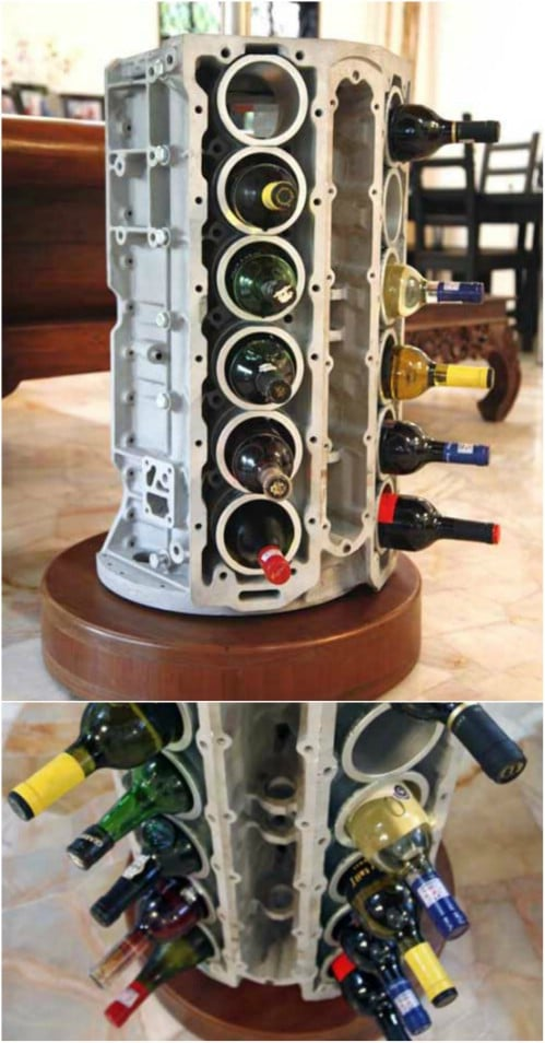 Creative Engine Block Wine Rack