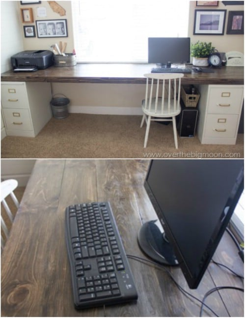 Repurposed Filing Cabinet Crafting Desk