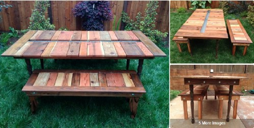 Rustic DIY Picnic Tables For An Entertaining Summer Free Plans - One sided picnic table
