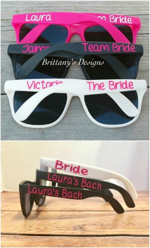 DIY Monogrammed Sunglasses