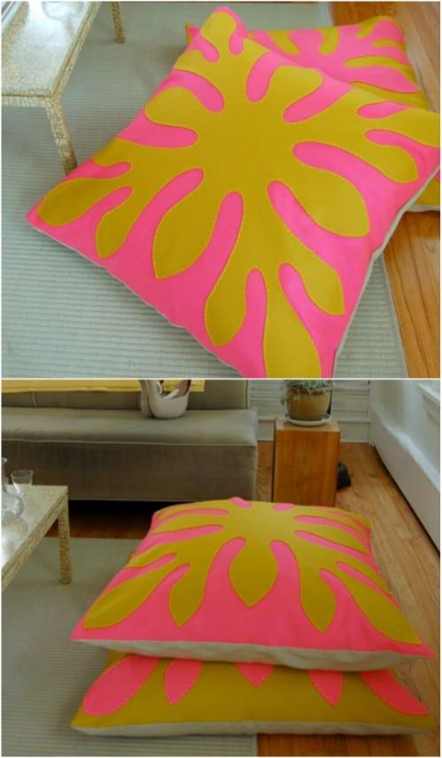 floor cushions diy. DIY Hawaiian Themed Felt Floor Pillows Floor Cushions Diy I