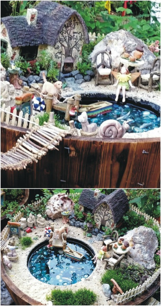 DIY Lakeside Cottage Fairy Garden