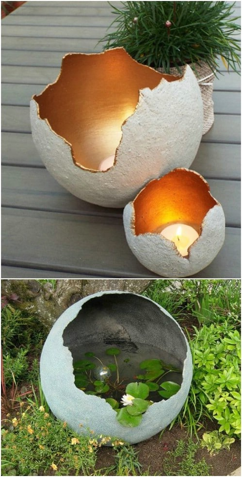 Golden Centered Decorative DIY Garden Spheres