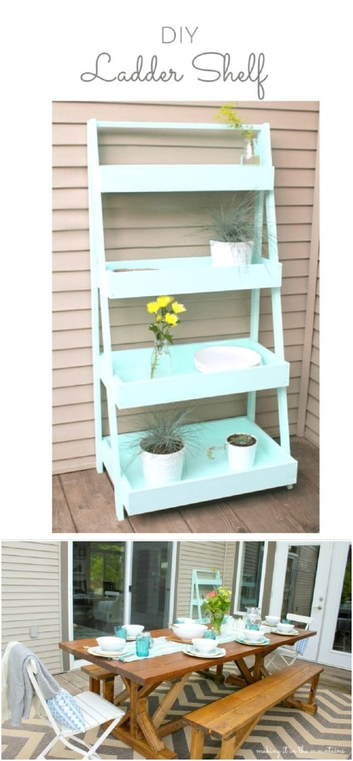 Simple DIY Ladder Shelf