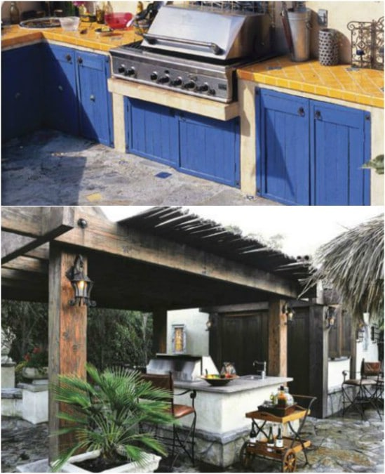 DIY Outdoor Kitchen With Food Fired Pizza Oven