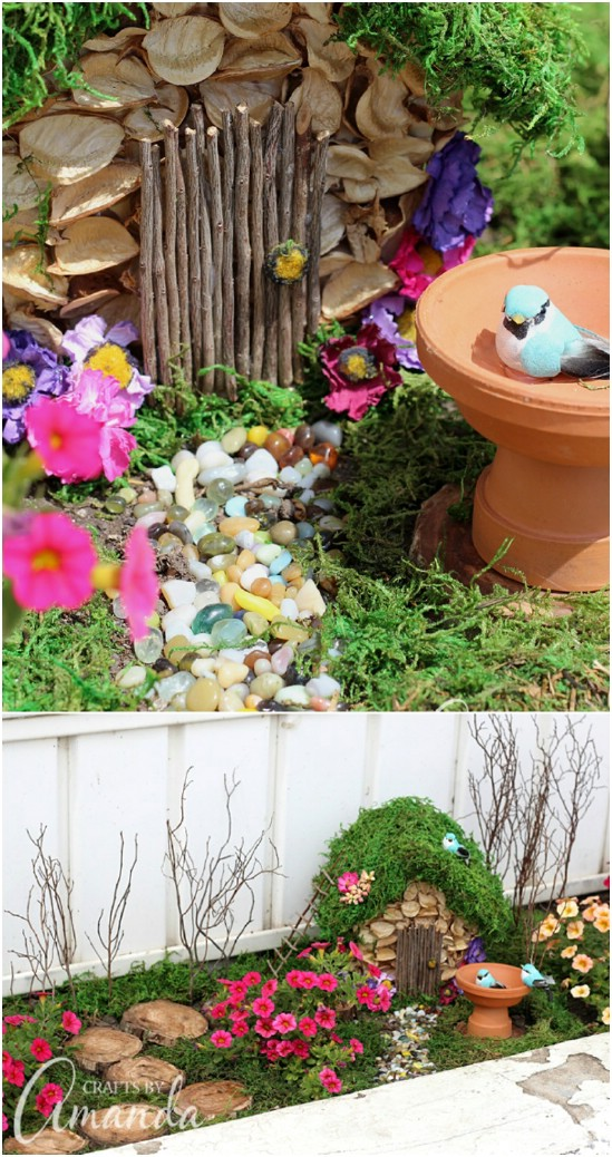 Easy DIY Planter Box Fairy Garden