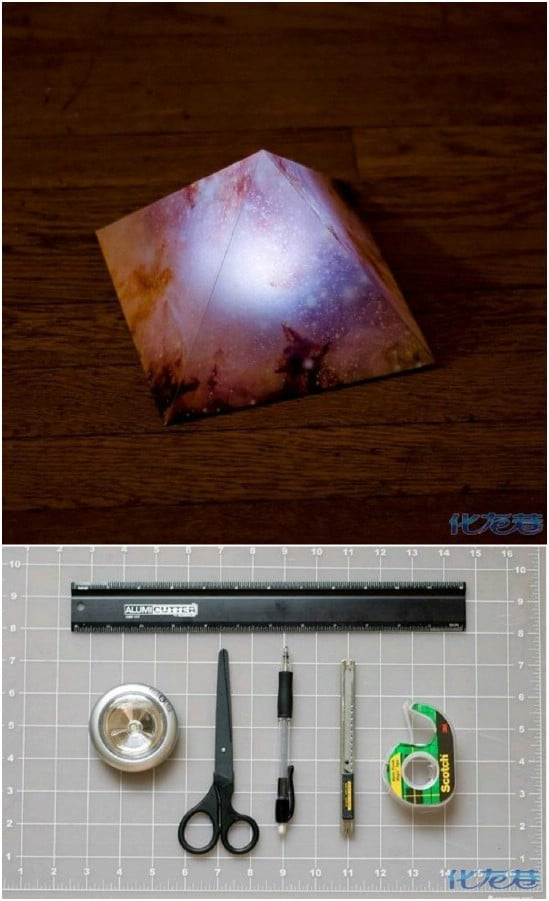 DIY Starry Pyramid LED Nightlight
