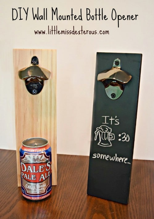 DIY Chalkboard Deck Bottle Opener