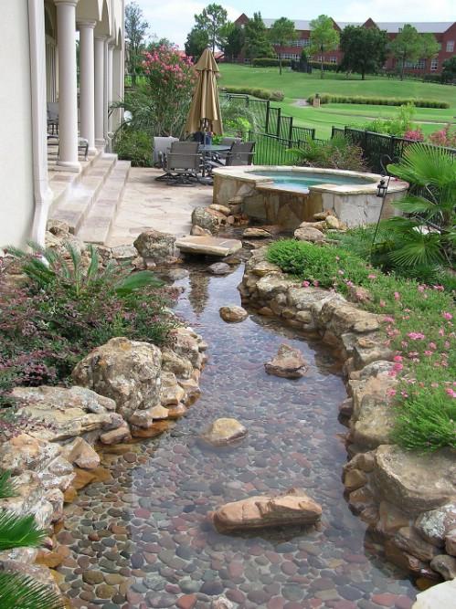 DIY Rock Water Garden