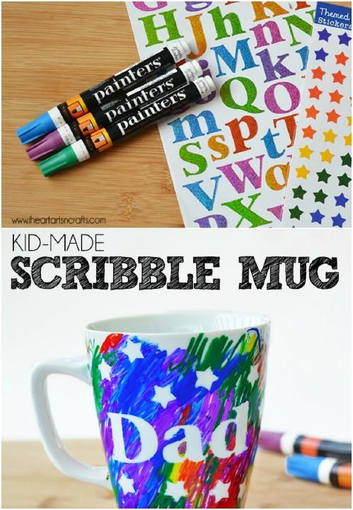 Cute DIY Sharpie Mug For Dad