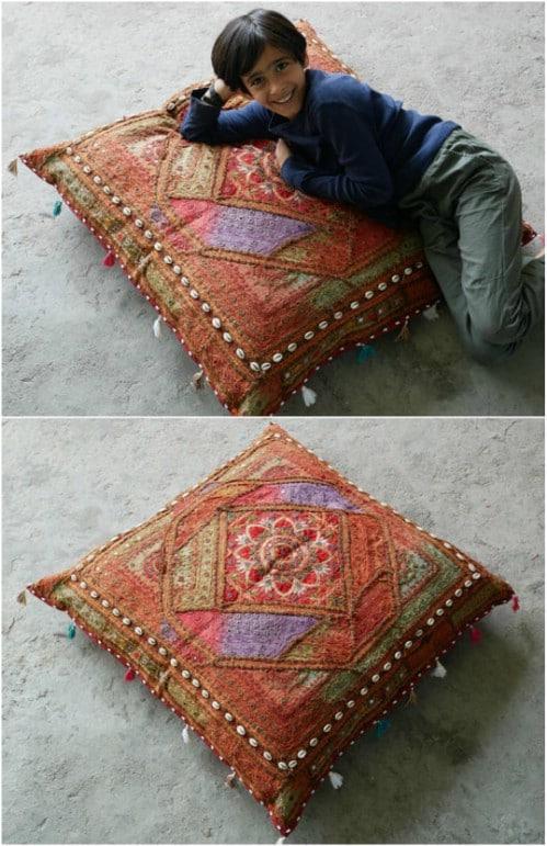 DIY Bohemian Style Floor Cushion