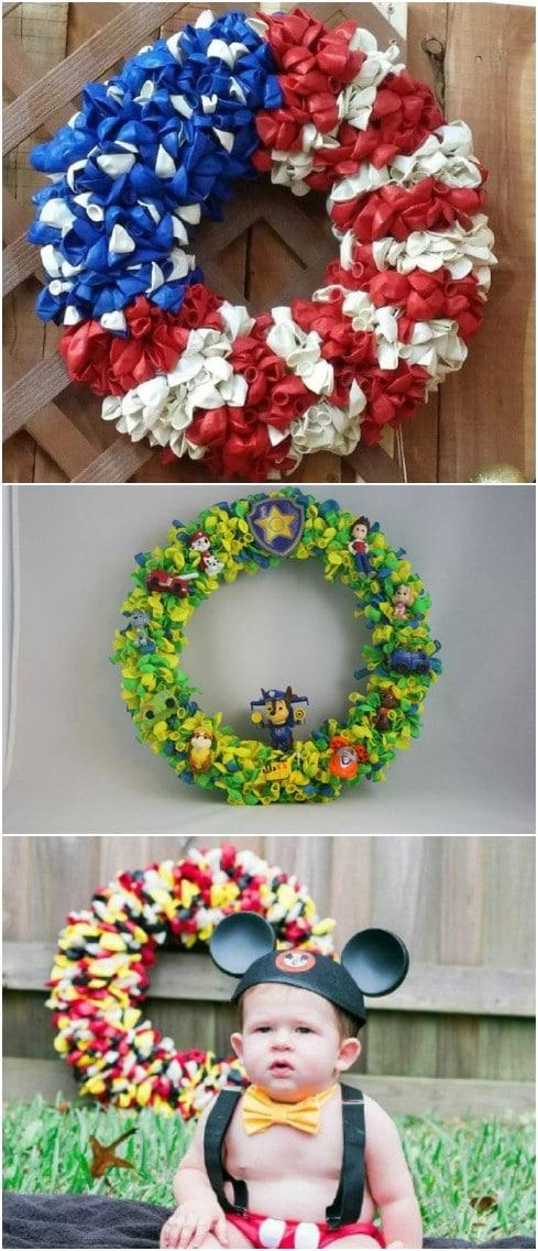 Cheap And Easy DIY Summer Balloon Wreath