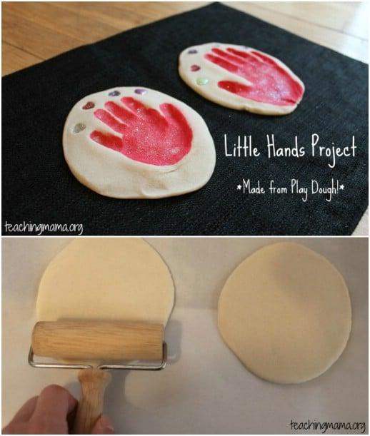 DIY Playdough Handprints