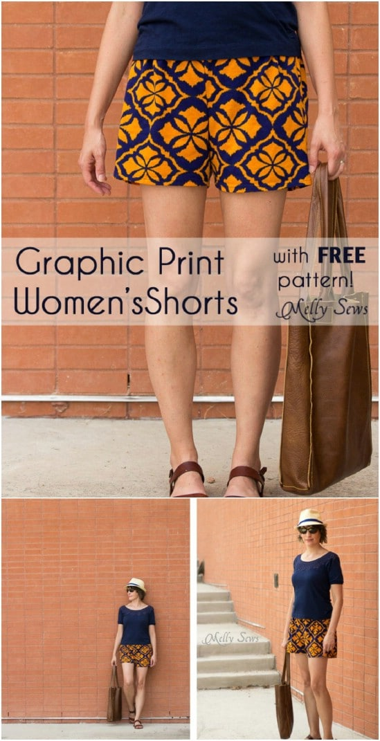 Easy Sew Graphic Shorts