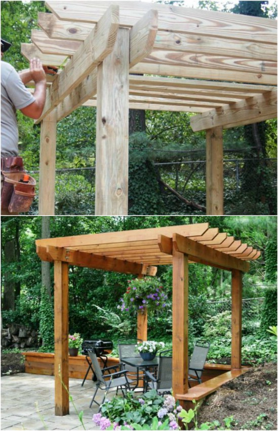 15 DIY Pergola Ideas and Plans You Can Build in Your Garden - 15 DIY Pergola Ideas And Plans You Can Build In Your Garden - Style
