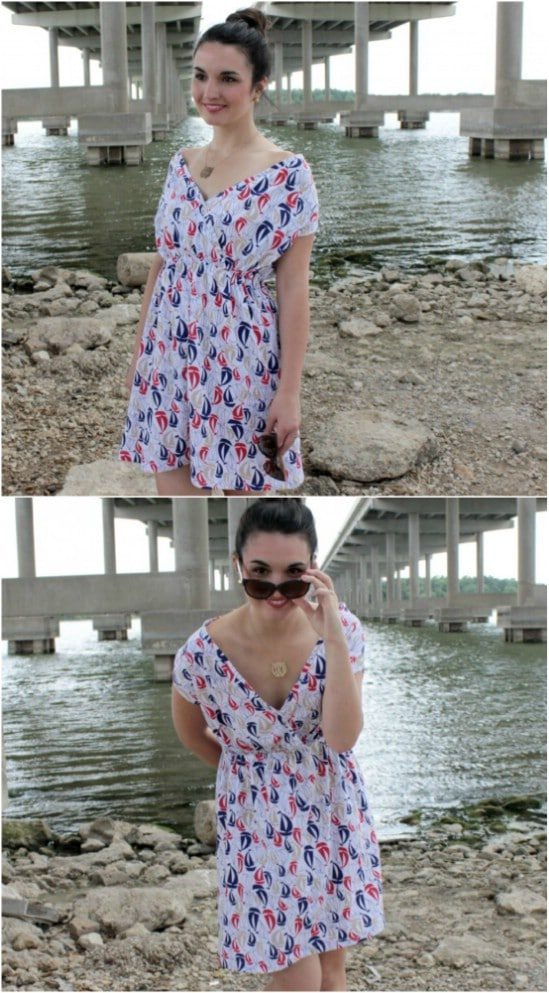 Stylish DIY Boat Club Dress And Coverup
