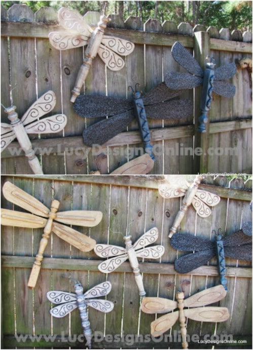 DIY Dragonfly Fence Décor