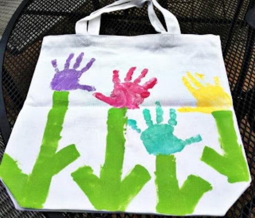Toddler Handprint Book Bag