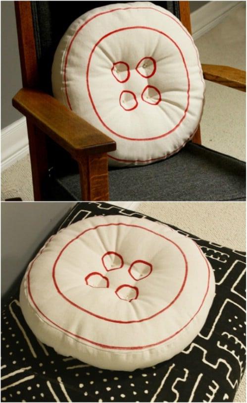 Cute DIY Button Pillow