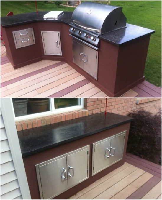 DIY Outdoor Kitchen With Concrete Countertops